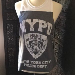 NYPD logo soft  muscle tank top by Doe S